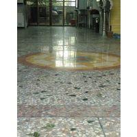 江门市新会厂房旧地面翻新——水磨石起灰处理——水晶面硬化施工