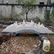 石雕拱桥中式汉白玉栏杆别墅庭院石雕小桥设计定做