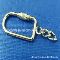 厂家生产批发定制抛光挂镀 珍珠镍螺丝扣 钢丝绳扣 钥匙环扣