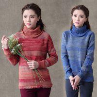 Y751#2014秋季新款 棉质高领保暖套头毛衣打底衫女修身