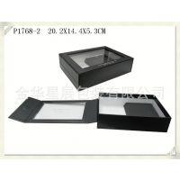 专业定制袜子礼品包装盒 P1768翻盖纸盒透明亚克力开窗袜子盒批发
