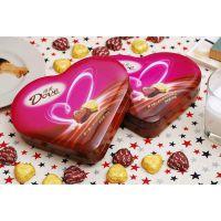 休闲零食 德芙心语98g心形巧克力 新年情人节礼物 正品团购批发