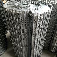 乾德机械供应304不锈钢食品链板线 波浪状挡边输送带