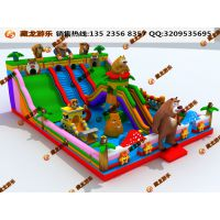 室内外大小型充气城堡蹦床 淘气堡儿童游乐设施充气滑梯 气模玩具蹦床