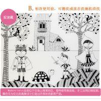 源康生产环保儿童硅胶餐垫 可擦写硅胶涂鸦垫 卡通绘画垫