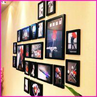 时尚精美20框照片墙 创意实木相框墙 加厚实木挂式相框墙