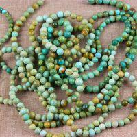 天然湖北DIY水晶半成品配件批发 绿松石半成品 散珠 圆珠批发