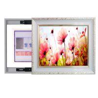 欧式电表箱配电箱专用装饰画可推拉式挂画遮挡电闸电源盒D939