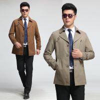 九牧王春秋装新款夹克男青年韩版修身男士夹克纯色西装领上衣潮
