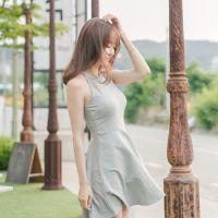 韩国代购正品夏装新款女装品牌attrangs-AR25206-短款连衣裙
