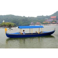 优质厂家定制贡多拉 豪华配置玻璃钢贡多拉观光船