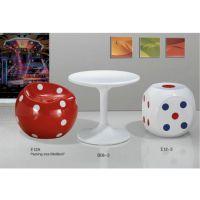 圆形玻璃桌圆 连体郁金香餐桌 玻璃咖啡桌 玻璃钢休闲桌子