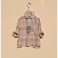 314845 新款童衬衫 春棉纱格子衬衫 女童衬衫 欧版女童衬衫