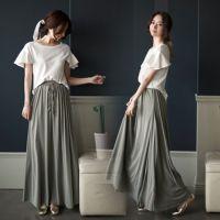 2015夏季精品女装连衣裙韩版飞飞袖短袖上衣配大摆长裙两件套装裙