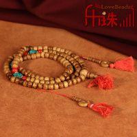 西藏牛骨佛珠 尼泊尔做旧老牦牛骨佛珠手链藏式108男女情侣款批发