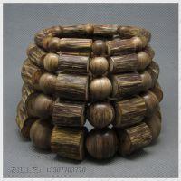 印尼天然随形沉香手串 桶珠沉香块手链佛珠厂家批发