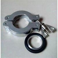 温州君坤大量供应铝制KF真空卡箍+中心支架+密封圈套装 规格齐全