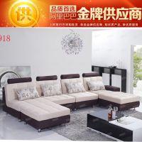可拆洗时尚现代客厅转角布沙发实木家具 厂家直销 新款上海