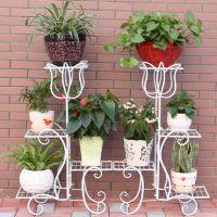 上海创客田园铁艺实木多层室内阳台客厅木质花架子花盆架绿萝吊兰花架
