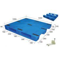 面粉、医药、食品行业平板托盘1210九脚平板塑料托盘