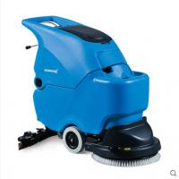 无锡加工厂清扫车间灰尘用机器 手推式电动洗地机