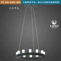 大美软装平台现代风格铁艺圆形吊灯D30XD015