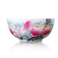 和艺陶瓷 寿碗定制定做 景德镇9英寸陶瓷骨瓷大号带盖品锅汤锅汤钵汤盆汤碗