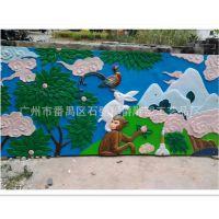广州供应学校彩绘动物浮雕 效果逼真景观装饰品