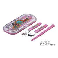 1件包邮 餐具便当3件叉子勺子筷子盒装套迪士尼六种特价低价