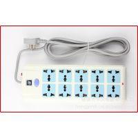 厂家直销 供应电源转换器 带过载十位插座 多功能插座接线板