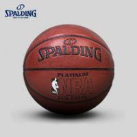 SPALDING斯伯丁官方旗舰店NBA Logo铂金室内室外PU篮球 74-605Y