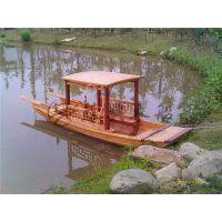 4米木质单蓬船 农用木船 公园观光手划木船 水上旅游赏景观光船