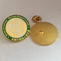 北京镶钻徽章制作金属珐琅胸章定制工厂