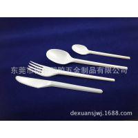 厂家直销 环保透明塑料刀叉勺 16CM  优良品质得轩供应