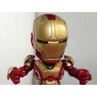 ICTI工厂认证 动漫周边可发光钢铁侠  ABS 帅气英勇机械人公仔