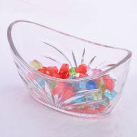 供应透明玻璃摆饰方缸水培船形酒店装饰 玻璃摆件可定制批发