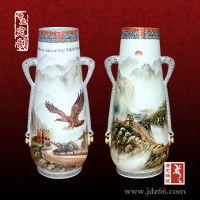 景德镇千火陶瓷花瓶 礼品花瓶厂家