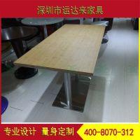 厂家直销 方形防火板餐桌 两人四人位餐桌 西餐厅餐桌椅定制运达来