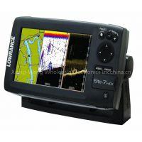 Lowrance 000-10967-001 Elite-7 HDI Chartplotter/Fishfinder with Basemap and 50/200-455/800 KHz Transom Mount Transducer