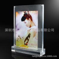 亚克力强磁台签透明相框 T型台卡桌牌 直销个性有机玻璃强磁相架