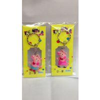 佩佩猪挂件 胶囊3D立体公仔钥匙扣家居用品 小礼品粉红小猪