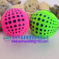 深圳龙岗工厂定制透明果冻球橡胶按摩球手部鸡蛋训练器握力球健身