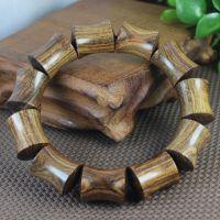 天然越南黑花梨竹节手串 优质木制佛珠批发