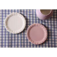 出口餐具 创意盘子 陶瓷盘 牛排盘 彩色 水果盘 日式餐具