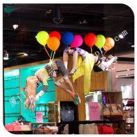 商场服装店铺气球装饰道具 玻璃钢气球道具厂家 节日气氛装饰 道具厂