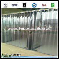 长城橡胶-软门帘塑料 PVC隔油烟帘 透明门帘 挡风隔热帘 空调门帘