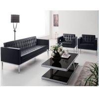 办公家具办公沙发定制 时尚休闲沙发 西皮接待沙发东莞港歌办公家具厂优价供应