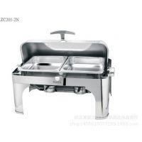 特价方形全翻盖自助餐炉 华凌西厨全钢保温可配电热板自助餐具