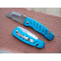 可更换T型刀片铝手柄合金刀头美工刀切割裁纸刀带玻璃敲击 折刀