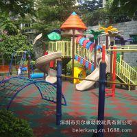 幼儿园防滑厚地垫游乐场地胶玩具下防护垫